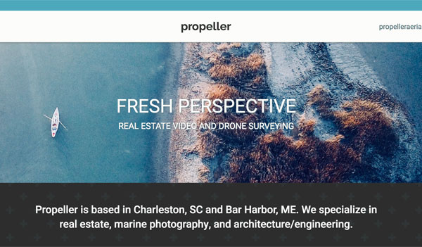 Propeller Aerial website